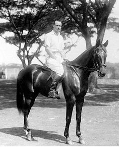 911eaf8102 A rare photo of Audrey Hepburns father riding. Audrey Hepburn Children