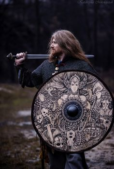 """nordwinterfrost: """"  Shield """"Valkyrie"""" made by Black Forest Forge."""