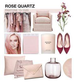 """Rose Quartz"" by jenniferkoper ❤ liked on Polyvore featuring interior, interiors, interior design, home, home decor, interior decorating, H&M, Estée Lauder, HarLex and Zara"