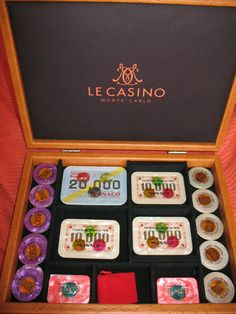 Le Casino de Monte Carlo. French Franc denominated jetons and plaques. Mintage unknown but sets obviously created when the casino transferred to Euro's