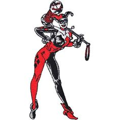 Licensed DC Comics Originals Harley Quinn Standing 24 x 4 Embroidered Iron On or Sew On Patch Batman Officially Licensed DC Product *** Want additional info? Click on the image.