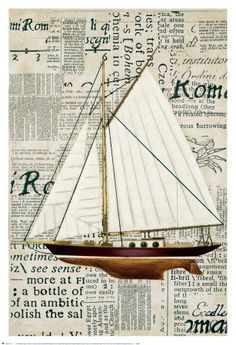 New Outkast Castings TALL SHIP sailboat cutter stained glass SAILS pattern