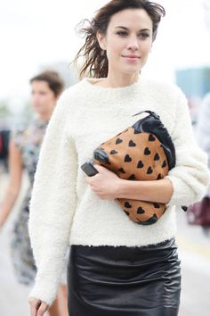 ALEXA CHUNG Street Chic London Fashion Week Spring 2014 Collections - London Fashion Week Street Style Photos - ELLE
