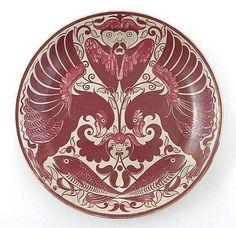 William Frend De Morgan (British, 1839-1917), Luster Glaze Decorated Stoneware Charger.