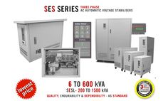 With ratings from 6 to 600kVA, the feature rich SES ranges of Three Phase AC Voltage Stabilisers are our most popular & cost-efficient three phase offerings.  Suitable for 95% of all applications, SES stabilisers not only guard against voltage fluctuations they also offer protection against all too common harmful high-energy surges, transients & voltage spikes.  To learn more checkout http://www.AshleyEdison.com/products/ses-automatic-voltage-regulator.htm