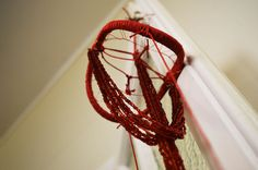 Dream Catcher - Mobile - YONI - Sacred feminine - WombMAN - Menstruation - Hand weaved using recycled materials <3