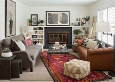 living room ideas, how to combine different styles and colours