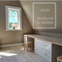 """Här får ni följa: on Instagram: """"Från Nordli-byråer till skapa hörna 🔨. Så grymt Ikea-hack!  Tack för inspirationsbilderna  @renoveringnorrgarden ❤️👈🏽 . . #barnrumsinspo…"""" Ikea Hack, Tack, Dream Homes, Instagram, Dream Houses"""