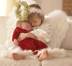 Waited too long...both the sweet angels feel asleep.