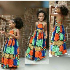 Lovely Ankara Styles for Kids - Children's Fashion Book Ankara Styles For Kids, African Dresses For Kids, African Children, Latest African Fashion Dresses, African Print Dresses, African Print Fashion, African Prints, Dress Fashion, African Attire