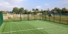 Artificial Grass Football Surfacing Design in North End #3G...