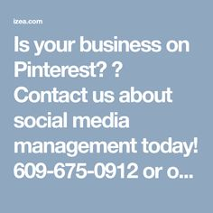 Is your business on Pinterest? 🤔 Contact us about social media management today! 609-675-0912 or ocdesignsonline.com/request-quote.… izea.com/2016/11/02/pin… #shopping #pinterest #socialmedia #business #buy #power #family #friends #mobile #love #pin #marketing #holidays #2018 #management