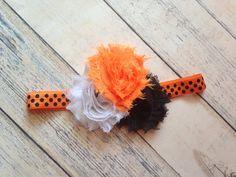 Halloween headband. Oklahoma State Cowboys shabby by ClairebowBaby, $8.00