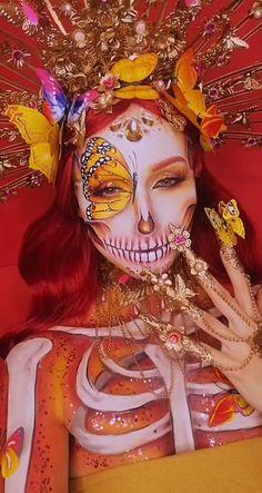 Sugar Skull Halloween Costume, Family Halloween Costumes, Halloween Kostüm, Halloween Projects, Skeleton Costumes, Skeleton Makeup, Vintage Halloween, Sugar Skull Makeup, Sugar Skull Art