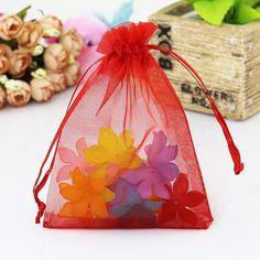 Wholesale 100pcs/lot Multicolors Organza Bags 13x18cm Favor Wedding Jewelry Bag Cute Bracelet Packaging Bag Organza Pouches