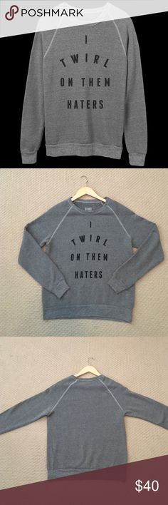 """I Twirl On Them Haters • Beyoncé • EUC Sweatshirt  This Unisex sweatshirt from Beyoncé's merch shop is in excellent condition and features the iconic line, """"I Twirl On Them Haters"""". This heather grey crew neck is super soft and comfortable! Size Small Beyonce/Merch Direct Tops Sweatshirts & Hoodies"""