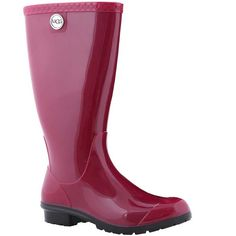 UGG Women's Shaye Rain Boot is a waterproof rubber rain boot with a UGGpure wool insole that will keep your feet warm and dry on those cold rainy days.