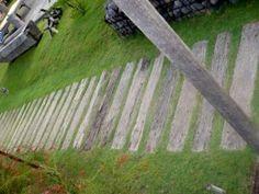railroad tie walkway