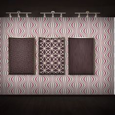 Pink Wave Wallpaper. Pink hue geometric wallpaper from Geo by Decorline.