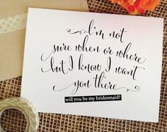 Will you be my bridesmaid Card Bridesmaid by WeddingAffections