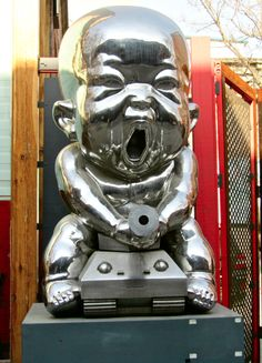 """In southern China the character for silver is pronounced similarly as """"money gone"""".   798 Art District - Beijing"""