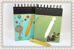 Libreta de notas Collage, incluye bolígrafo ~ http://www.manosinkietas.com/  #Handcraft