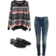 A fashion look from November 2012 featuring striped sleeve shirt, medium wash skinny jeans i canvas espadrilles. Browse and shop related looks.