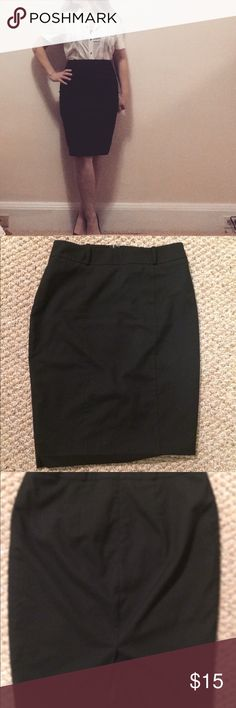 """Mossimo Classic Black Pencil Skirt Mossimo classic black pencil skirt gives a smooth silhouette and is the perfect length and style for work or a party. Length- 24"""" Waist- 31"""" This is a size 8 and I'm a 10-12 and it looks great but I can't bend over in it so I think it would definitely fit a size 8 or maybe a 10, depending on your shape. Mossimo Supply Co Skirts Pencil"""