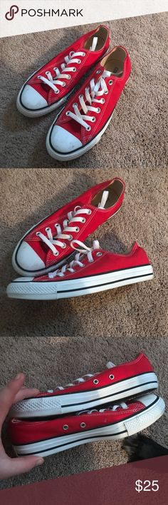 7e6bb004e45e0 Converse sneakers Size 8 Red Low Top Converse Sneakers! Worn only two  times. Recently. Tenisky Converse
