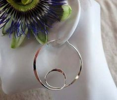 Sterling Silver Hoop with a Loop by Wisteriaearrings on Etsy