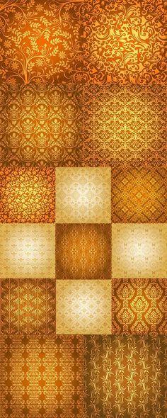 Vintage patterns on a gold background - Винтажные узоры на золотом фоне