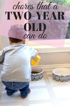 Ideas for how to involve your toddler in doing chores // Love & Renovations