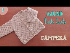 tutorial crochet – Paso a Paso Crochet Crochet Baby Clothes Boy, Crochet Baby Pants, Newborn Crochet, Baby Cardigan Knitting Pattern Free, Crochet Cardigan, Baby Knitting Patterns, Loom Crochet, Crochet Videos, Youtube Crochet