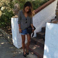 "Julie Sariñana na Instagramie: ""Chill vibes yesterday in @paigedenim tee and denim shorts! ❤️ #liveinit"""