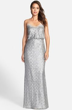 Badgley Mischka Sequin Mermaid Gown available at #Nordstrom