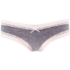 Charlotte Russe Lace-Trim Lace-Up Cheeky Panties ($3.50) ❤ liked on Polyvore featuring intimates, panties, grey, lace trim panty, lacy panty, laced panties, charlotte russe and lace up panty
