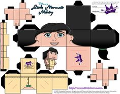 Disney Little Mermaid Melody Cubeecraft SKGaleana de SKGaleana