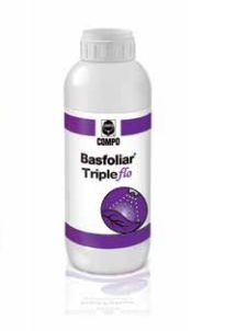 Basfoliar Τriple flo Σύνθεση: 9% χαλκός, 22% μαγνήσιο, 33% ψευδάργυρος. Η ειδική του σύνθεση εξασφαλίζει την ευρωστία των καλλιεργειών καταπολεμώντας ταυτόχρονα και τις τροφοπενίες του χαλκού, μαγγανίου και ψευδαργύρου. Ιδανικό για διαφυλλική εφαρμογή στο σιτάρι, το καλαμπόκι, τα πυρηνόκαρπα και τα κηπευτικά. Διαθέσιμες Συσκευασίες Χαρτοκιβώτιο 12x1 λίτρα