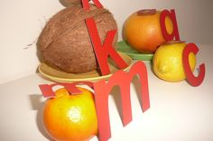 fruits and #magnetic #letters from #MagWords
