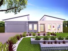 Our Orlando 30 is a single storey home with 4 bedrooms, 2 baths and more (view floor plan). Visit our display home or call us on 1300 100 922 today. Single Storey House Plans, One Storey House, Modern Floor Plans, My House Plans, Bungalow House Design, Storey Homes, Display Homes, Facade House, Architect Design