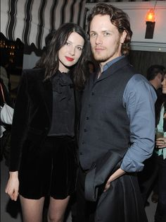 Sam Heughan Actors Caitriona Balfe and Sam Heughan attend the Starz original series premiere after party of 'Black Sails' at Chateau Marmont...