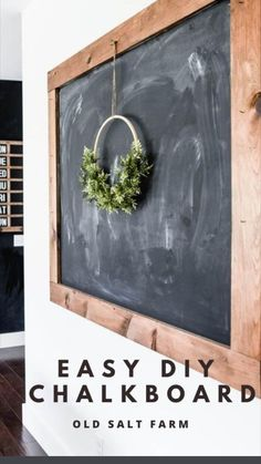 Diy Kitchen Projects, Diy Craft Projects, Wood Projects, Easy Diy Crafts, Diy Arts And Crafts, Farmhouse Style Decorating, Farmhouse Decor, Chalkboard Paint, Chalkboard Writing