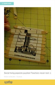 Modge podge pictures on popsicle sticks... Instant, cheap puzzles!