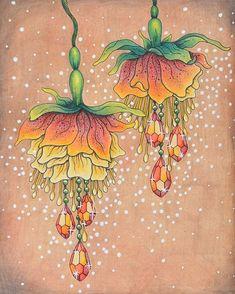 From Sommarnatt by Hanna Karlzon #sommarnatt #hannakarlzon #sommarnattmålarbok #coloring #prismacolorpencils
