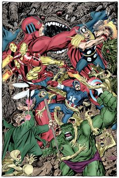 The Avengers(1964)and the Hulk vs the Mole Man by John Byrne.