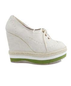 Beige Chunky Flatform Shoes....Love!