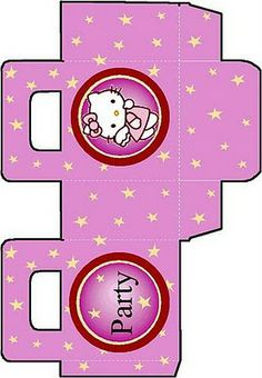 FROM HELLO KITTY COLORING PAGES - How cute are these printable craft activities? They're little gift boxes with stars featuring Hello Kitty - they're best printed on cardstock - then simply fold them into shape. Bolo Da Hello Kitty, Hello Kitty Birthday, Hello Hello, Hello Kitty Crafts, Hello Kitty Themes, Hello Kitty Colouring Pages, Coloring Pages, Cat Crafts, Paper Crafts