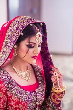 """Photo from album """"Portfolio"""" posted by makeup artist Tamanna Makeup Artistry Bridal Make Up, Wedding Make Up, Bun Hairstyles, Wedding Hairstyles, Indian Wedding Photography Poses, Red Lip Makeup, Indian Bridal Fashion, Wedding Preparation, Bridal Style"""