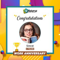 Congratulations, Simrat Chawla !! Your Hard work, Loyalty and Diligence make the best employees. We are glad to have you with all of these qualities. . Wishing you a happy work anniversary and good luck for all your future endeavors.!! . . . #WorkAnniversary #Anniversary #Happy #ManyMoreToCome #EmployeeAppreciation #WorkCulture #Celebrations #HappyWorkAnniversary #webguruz #India 🇮🇳