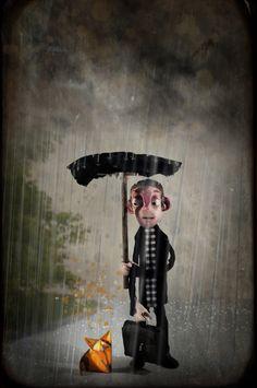 Jour Pluvieux de Olivier Merlin sur Art Limited